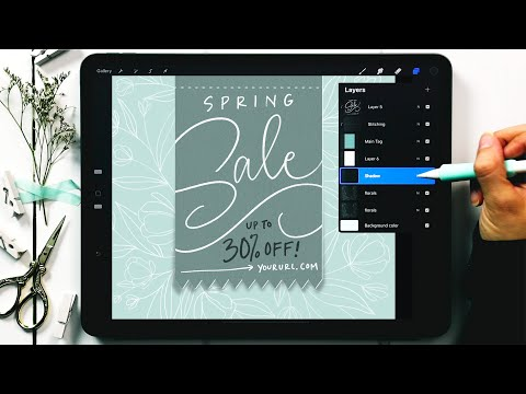 Create a Floral Sales Tag in Procreate