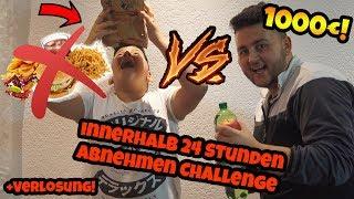 24 STUNDEN ABNEHMEN CHALLENGE mit Bruder UM 1000€ !!! (+Verlosung!) | Can Wick