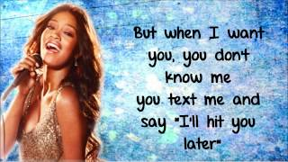 Keke Palmer - Love You & Hate You Lyrics Video HD
