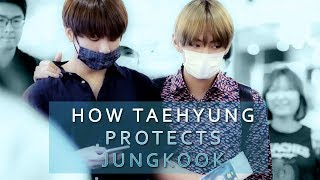 How Taehyung Protects Jungkook || Taekook/VKook Evidence