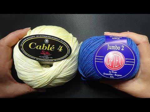 Обзор летней итальянской пряжи Cable 4, Jumbo 2 из магазина www.100wool.it