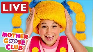 LIVE NURSERY RHYMES   Head Shoulder Knees and Toes + Baby Songs by Mother Goose Club   COMPILATION