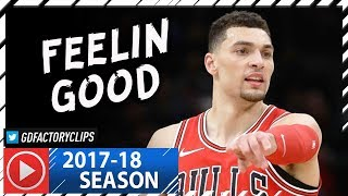 Zach LaVine 2nd Bulls Game Highlights vs Heat (2018.01.15) - 18 Pts, 5 Reb, 5 Ast in 20 Min