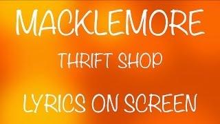 MACKLEMORE - thrift shop - lyrics on screen