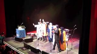 Jon Snow presents Tinariwen with their Songlines Award for Best Group