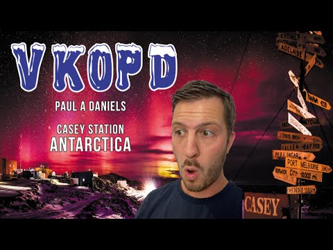 I made contact with Paul VK0PD, in Antarctica!