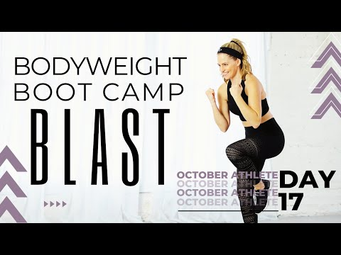 35 Minute Bodyweight Boot Camp Blast Workout:  No Equipment at home workout for Strength & Cardio