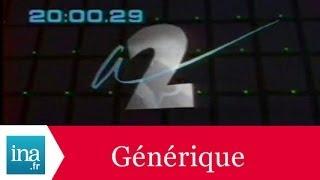 Générique 20h  Antenne 2 1987 - Archive INA