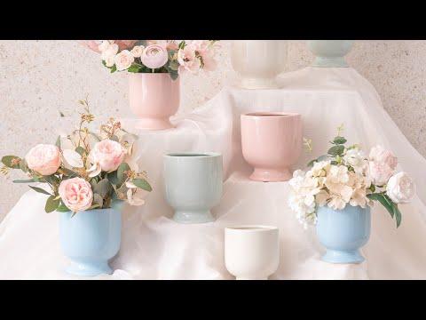 Ceramic Kyoto Pot Planter Glossy Dream Blue (13.5cmx15cmH)
