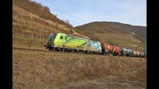 [K+S Werbung]DB Cargo 185 152-6 mit Kesselwagen auf der Rechten Rheinstrecke