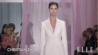 Christian Dior 2013 SS Runway Show Paris Fashion Week ELLE TV