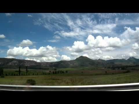 Scenery on the road in OFS, South Africa