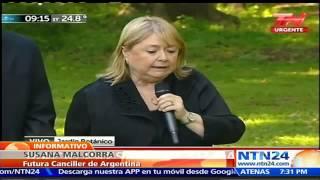 Futura Canciller de Argentina le ha exigido a Nicolás Maduro respetar marco democrático en Venezuela