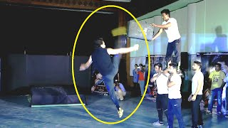 Tiger Shroff performs AMAZING DANGEROUS Action Stunts for BAAGHI. (No Audio)