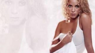 Shakira -Gypsy with Lyrics on screen.
