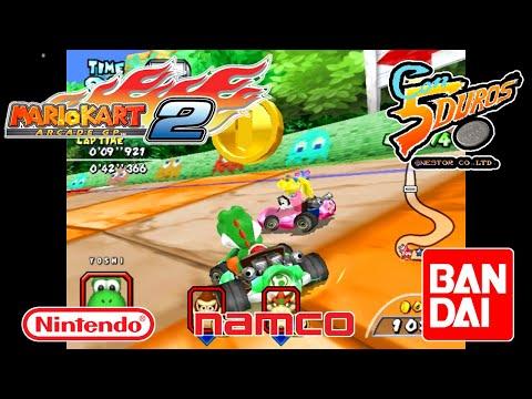 """MARIO KART ARCADE GP 2 (PACMAN CUP)  - """"CON 5 DUROS"""" Episodio 910 (+ Mario Kart GBA Star Cup) (1cc)"""