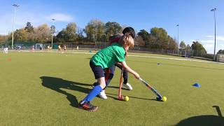 Young players learning from top EVO coaches - EVO Reigate Hockey Camp, October 2018