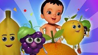 My Fruit Friends Telugu Pandlu Rhymes | Telugu Rhymes for Children | Infobells width=
