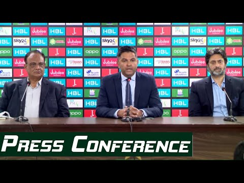 LIVE – CEO Wasim Khan And Director Commercial Babar Hamid Press Conference In Karachi