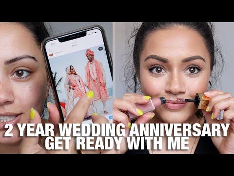 2 YEAR WEDDING ANNIVERSARY GET READY WITH ME | A TRIP DOWN MEMORY LANE ? ?? | GRWM
