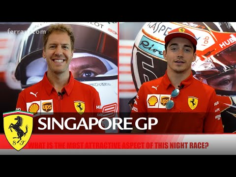 Seb and Charles are ready for the Singapore GP