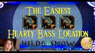 The Hearty Bass location you have to know! Zelda- botw Hilde Snow
