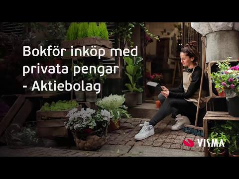 Bokför inköp med privata pengar i Visma eEkonomi - Aktiebolag