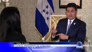 Cara a cara con el presidente de Honduras