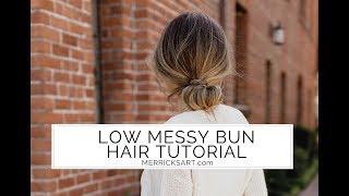 Low Messy Bun Hair Tutorial
