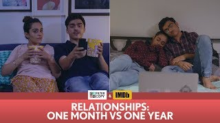 FilterCopy | Relationships: One Month vs One Year | Ft. Apoorva Arora and Rohan Shah width=