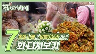 진짜배기 7화 다시보기 (특별한 나물 제1편, 하동 달팽이, 도라지에 인생을 묻다) 다시보기