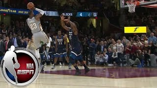 LeBron James wins game with ridiculous block- and buzzer-beater combo vs. Timberwolves | ESPN