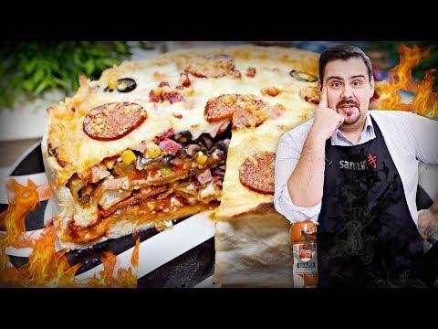 Бомбическая пицца-пирог на Новый Год 2018 ? А почему бы и нет???? ? Бабушка одобряет!