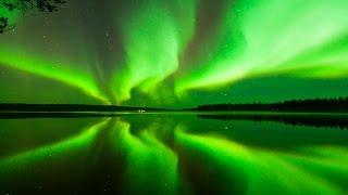 Aurora Borealis in Rovaniemi, the Official Hometown of Santa Claus in Lapland, Finland
