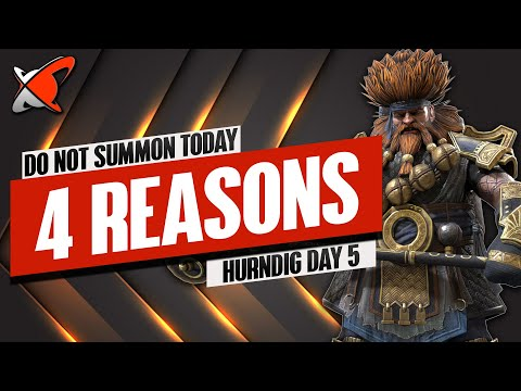 4 REASONS NOT TO SUMMON TODAY | Hurndig Day 5 | BGE's Guides | RAID: Shadow Legends