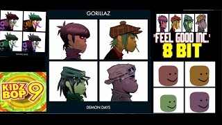 Gorillaz Feel Good Inc sung in different syles dank,meme,cover