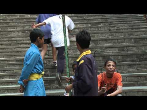Playing badminton in SOS Children's Village Kavre