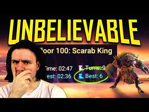 Insane Scarab King 100% Auto Team I Raid Shadow Legends