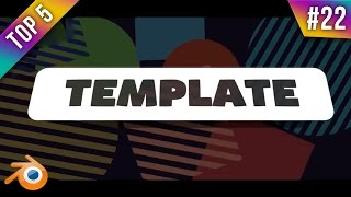 TOP 5 Blender 2D Intro Templates #22 + Free Download