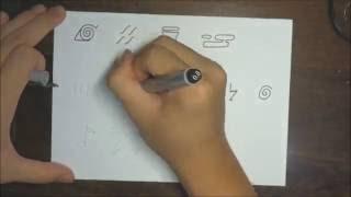 How to draw all Naruto headband symbols