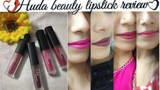 Huda beauty liquid matte mini lipstick review❤
