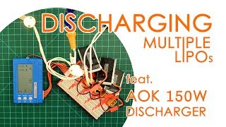 QUICK GUIDE: How to discharge multiple LiPo batteries automatically (ft. AOK 150W discharger)