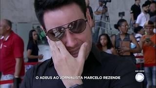 Luiz Bacci não consegue conter a tristeza na despedida de Marcelo Rezende
