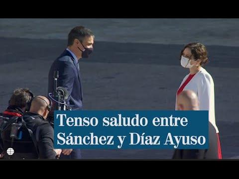 Frío saludo entre Sánchez y Díaz Ayuso tras decretarse el Estado de Alarma en Madrid