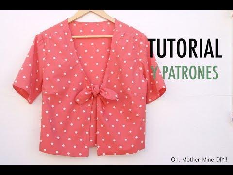 Aprender a coser: Blusa de mujer anudada (patrones gratis)