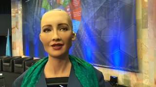Would this humanoid robot -Sophia be able to destroy the world
