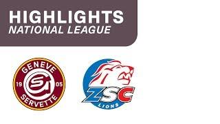 Genève-Servette HC vs. ZSC Lions 3:2 - Highlights National League