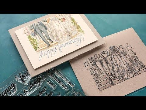 Wedding Cards - 1 Stamp Set, 2 Ways