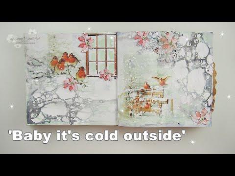 DecoJournal Winter Inspiration Collage Tutorial ♡ Maremi's Small Art ♡