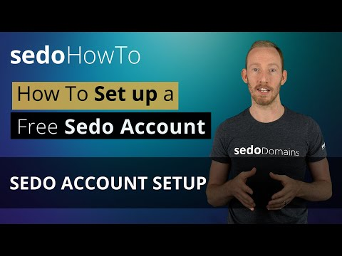 How to Setup a Sedo Account - Buy, Park, Sell, Domains
